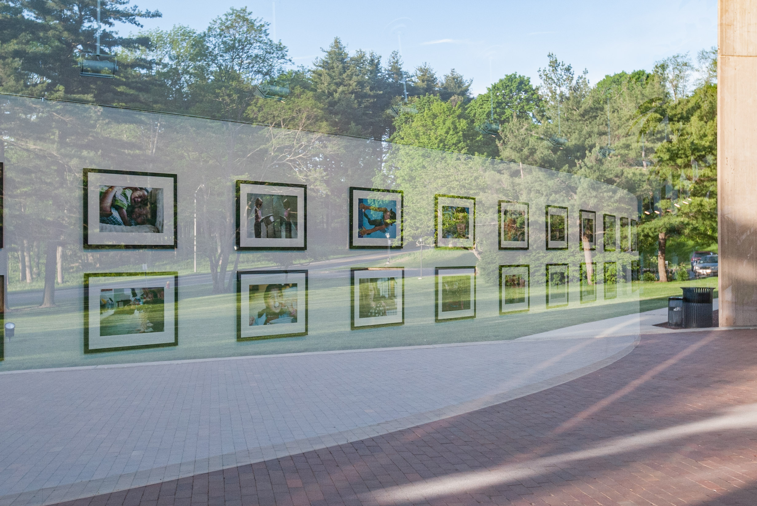 1 Earth City exhibit by Danny Goldfield at IM Pei designed Paul Mellon Arts Center on the Choate Rosemary Hall campus in Wallingford CT.